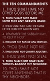Ten Commandments - Red Grunge