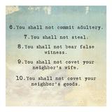 Ten Commandments 6-10