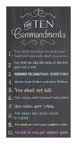 The Ten Commandments - Chalkboard