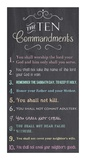 The Ten Commandments - Chalkboard Reproduction d'art par Veruca Salt