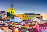 Lisbon  Portugal Skyline at Alfama  the Oldest District of the City with the National Pantheon Dome