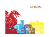 Ljubljana Skyline Pop
