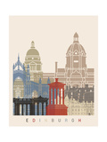 Edinburgh Skyline Poster