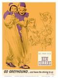 New Orleans - Mardi Gras - Greyhound Bus Lines