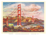 The Golden Gate Bridge  San Francisco - United Air Lines Calendar Page