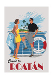 Cruise to Roatan Vintage Poster