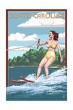 South Carolina - Water Skier and Lake