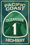 Highway 1  California - Oceanside - Pacific Coast Highway Sign