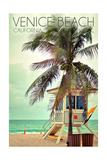 Venice Beach  California - Lifeguard Shack and Palm