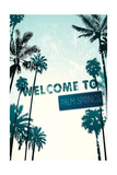 Palm Springs  California - Street Sign and Palms