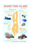 Grand Turk Island - Typography and Icons