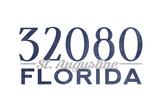 St Augustine  Florida - 32080 Zip Code (Blue)