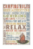 Camping Rules - Barnwood Painting