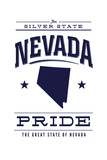 Nevada State Pride - Blue on White