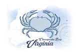Chesapeake Bay  Virginia - Crab - Blue - Coastal Icon