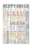 Scottsdale  Arizona - Barnwood Typography