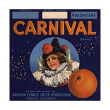 Carnival Brand - Anaheim  California - Citrus Crate Label