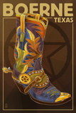 Boerne  Texas - Boot and Star