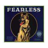 Fearless Brand - Orange  California - Citrus Crate Label