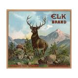 Elk Brand - Riverside  California - Citrus Crate Label