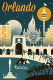 Orlando  Florida - Retro Skyline