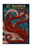 St Thomas  US Virgin Islands - Octopus Mosaic