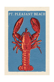 Pt Pleasant Beach  New Jersey - Lobster Woodblock