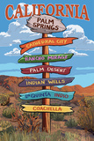 Palm Springs  California - Destination Signpost