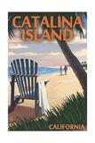 Catalina Island  California - Adirondack Chairs and Sunset