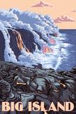 Hawaii - Big Island - Lava Flow Scene