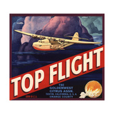 Top Flight Brand - Tustin  California - Citrus Crate Label