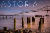 Astoria  Oregon - Astoria Megler Bridge at Sunrise