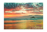 Santa Monica  California - Pier at Sunset