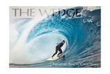 Newport Beach  California - Surfer in Perfect Wave