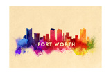 Fort Worth  Texas - Skyline Abstract