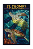 St Thomas  US Virgin Islands - Sea Turtle Mosaic
