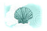 Scallop Shell - Teal - Coastal Icon
