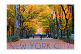 New York City  New York - Central Park in Autumn
