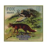Fox Brand - California - Citrus Crate Label