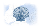 Scallop Shell - Blue - Coastal Icon