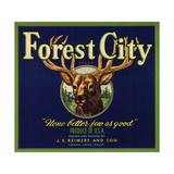 Forest City Brand - Lemon Cove  California - Citrus Crate Label