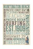 Huntington Beach  California - Typography