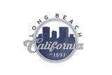 Long Beach  California - Skyline Seal (Blue)