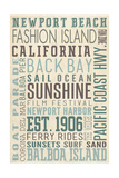 Newport Beach  California - Typography (3)