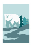 Simple Polar Bear - Blue