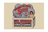 Hot Springs National Park  Arkansas - Americas Own Spa - Vintage Advertisement