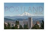 Portland  Oregon - Mt Hood and City