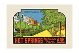 Hot Springs National Park  Arkansas - Bath House Row - Vintage Advertisement