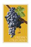 Fresno  California - Grapes - Letterpress