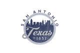 San Antonio  Texas - Skyline Seal (Blue)